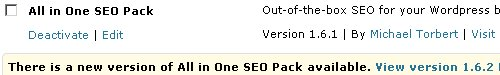 Upgrading All In One SEO Plugin